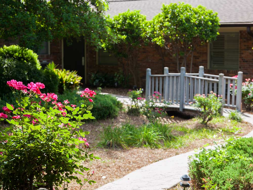 Garden and bridge at Willingway Addiction Treatment Experts - Georgia drug and alcohol rehab center