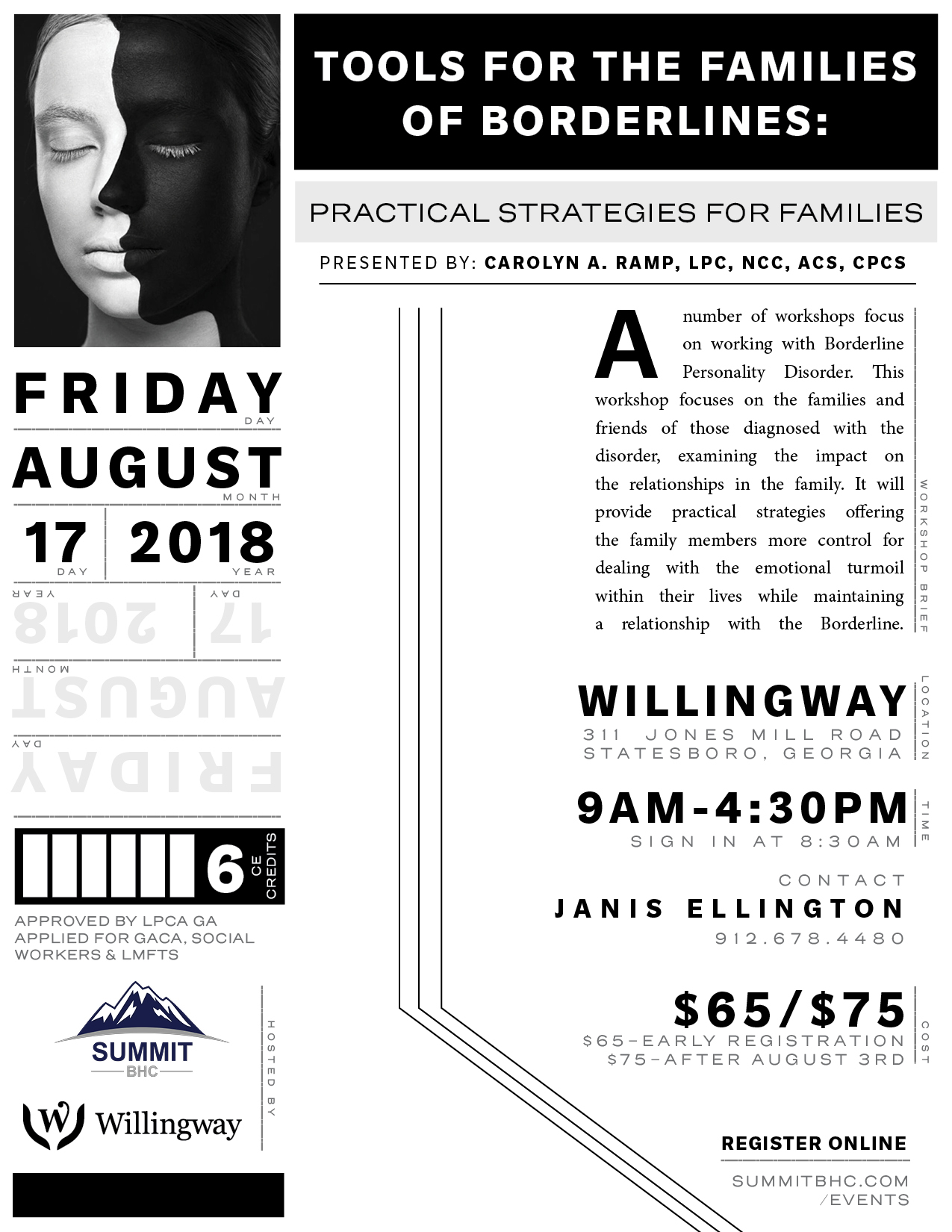 Tools For The Families of Borderlines- Willingway Events - Summit BHC Events