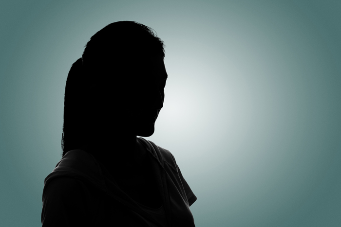 Who Needs to Know You've Been in Rehab? - silhouette of girl on green grey background