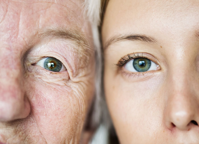 Is-Addiction-Hereditary - grandmother and granddaughter close up