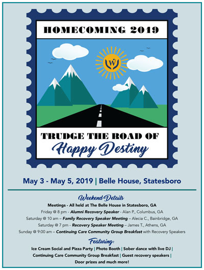 Willingway Homecoming 2019 - Trudge the road of happy destiny - May 3-May5, 2019 - Belle House, Statesboro Georgia