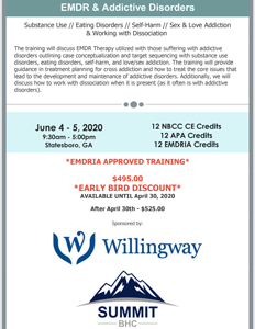 EMDR and Addictive Disorders June 4-5 2020