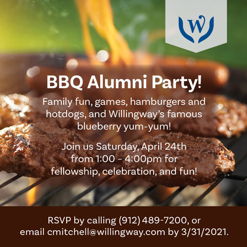 BBQ Alumni Party - Saturday, April 24, 2021 - Willingway - substance use disorder treatment in Statesboro, GA