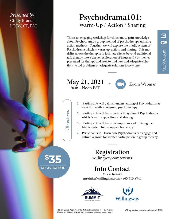 Psychodrama101: Warm-Up / Action / Sharing - Webinar - May 21, 2021