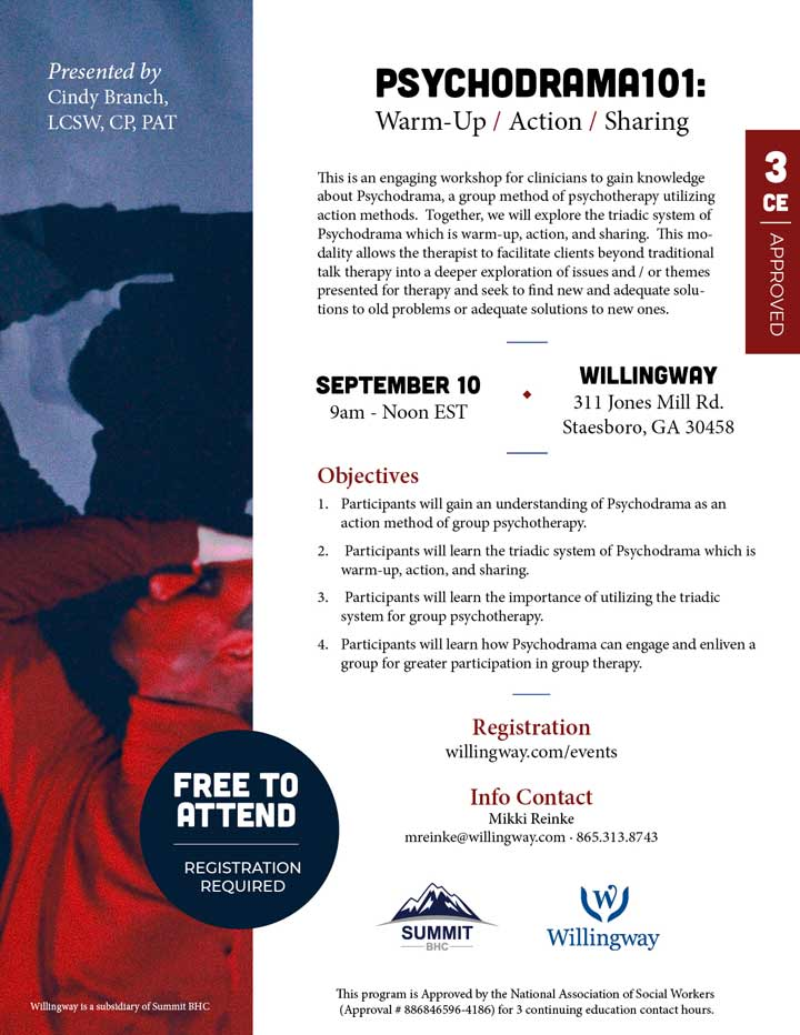 Psychodrama101: Warm-Up / Action / Sharing - Webinar - September 10, 2021